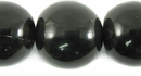Black Horn Round Beads 25mm
