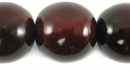 Red Horn Round Beads 25mm