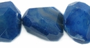 Dyed Blue Faceted Agate Nugget Beads 25-40mm