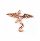 Metal Casted Dragon Design Copper 34x41mm