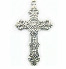 Metal Casted Cross Design Silver  Charm 60x35mm