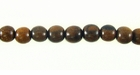 Round Tiger Ebony Wood Beads 5mm