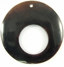 Tab Shell Round Pendants With Large Hole