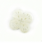 Makabibi Shell Carved Flower 4-Petal Design Pendant