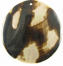 Brownlip Round Moon Shell Pendants 60mm