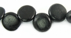 Black Coco Disc Beads 10mmx4mm