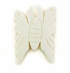 White Butterfly Bone Pendants