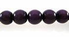 Purple Buri Round Beads 8mm