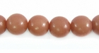 Brown Buri Round Beads 8mm