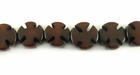 Brown Seed Buri Cross Beads 10mm