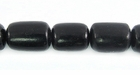 Black Tube Buri Beads 10-13mmx8-9mm