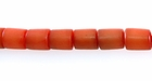 Coral Buri Tube Beads 10x8mm