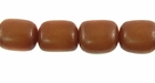 Brown Oval Buri Beads 10x8mm