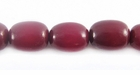 Burgundy Oval Buri Beads10x8mm