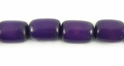 Purple Oval Buri Beads 10x8mm