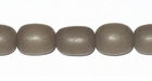 Gray Oval Buri Beads 10x8mm