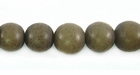 Dark Gray Round Buri  Beads 8mm