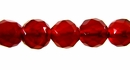 Faceted Round Wine Red Agate Beads 6mm