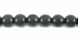 Round Black Ebony Wood Beads 6-7mm