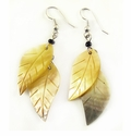 Blacklip Shell Double-Leaf Earrings