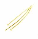 Gold Plated  Head Pins 2""