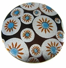 Tab Shell Round Painted Sunburst Blue Pendant