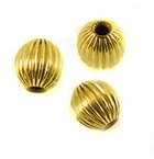 Gold Filled Corrugated Round Beads