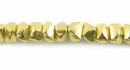 Chip Brass Beads 6x4mm