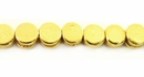 Flat Disc Brass Beads 4.5x3mm