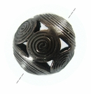 Round Choco Copper Metal Bead