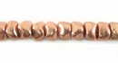 Copper Finish Chips Beads 6x4mm