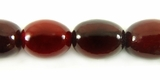 Red Horn Oval Beads 13x16mm