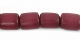 Burgundy Buri Tube Beads 8x7mm