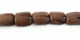 Brown Oval Carved Buri Beads 8x6mm