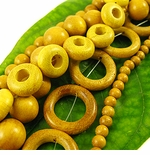 Nangka (Yellow) Wood Beads