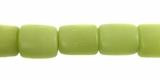 Lime Green Buri Tube Beads 10x8mm