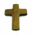 Burnt Horn Cross Pendant