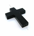 Black Horn Cross Pendant