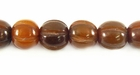 Golden Squash Design Horn Beads 10mm