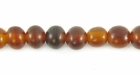 Golden Horn Round Beads 6mm
