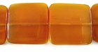 Golden Horn Flat Square Beads 25mm