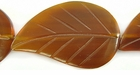 Golden Horn Leaf Beads 26x42mm