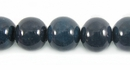 Round Navy Blue Limestone Coral Beads
