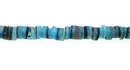 Blue Dyed Hammershell Heishi Beads 4-5mm