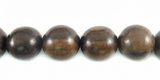 Round Tiger Ebony Wood Beads 8mm