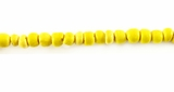 Yellow Round Coco Beads 2-3mm