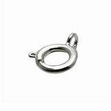 Silver Plated Spring Ring Clasps