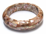 Brownlip Blocking Half Round Bangle