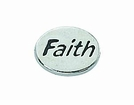 "Message Beads ""Faith"" 11x8x3mm"