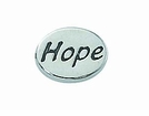 """Message Beads """"Hope"""" 11x8x3mm"""